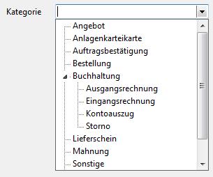 Strukturierte Auswahlliste