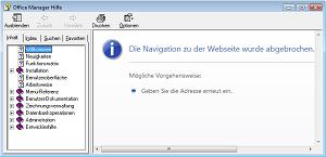 Die Navigation zu der Webseite wurde abgebrochen