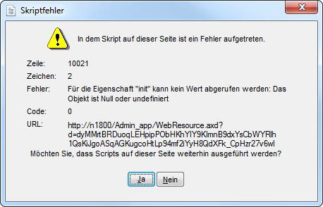 Skriptfehler ScanSnap N1800 Admin-Tool