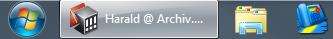 Geöffnetes Programm auf Windows 7 Taskleiste