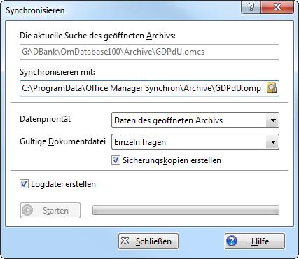 Datei-Datenbank-Synchronisieren