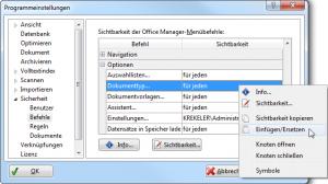 Screenshot Programmeinstellungen