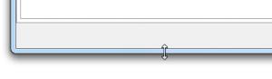 Größe eines Fensters mit der Maus ändern