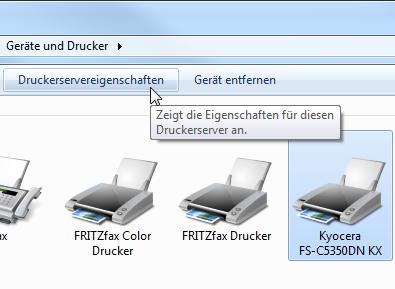 """Mausschalter """"Druckservereigenschaften"""" anklicken"""