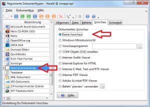 Registrierte Dokumenttypen