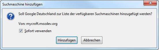 Screenshot Rückfrage-Dialogfenster