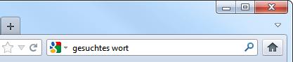 Firefox-Suche in deutsch