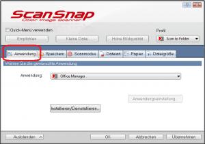 "Screenshot der Seite ""Anwendung"""