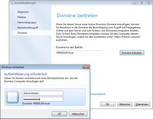 Windows Servereinstellungen - Domäne beitreten