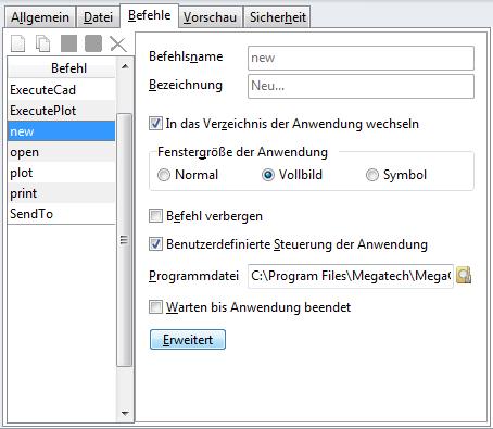"""Screenshot Fenster """"Dokumenttypen"""""""