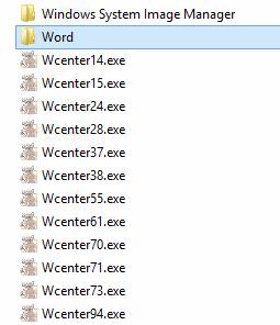 Screenshot der Dateiliste