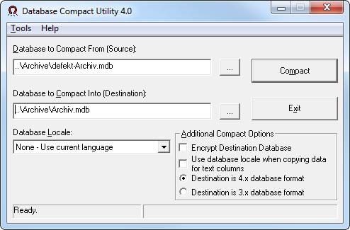 Database Compact Utility 4.0
