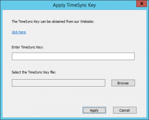 Apply Timesync Key