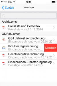 """Screenshot """"Löschen"""""""