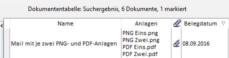 Tabellenspalten für E-Mail-Anlagen