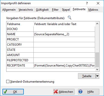Importverzeichnis definieren