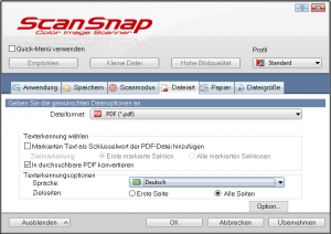 Screenshot ScanSnap Manager