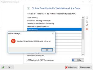 Firedac Disk-I/O error